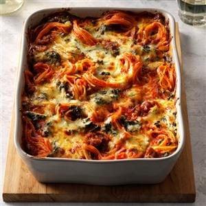 Florentine Spaghetti Bake Recipe
