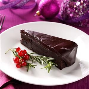Flourless Chocolate Cake with Rosemary Ganache