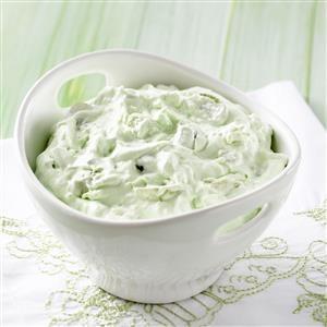 Fluffy Green Grape Salad Recipe