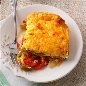 Four-Pepper Egg Casserole Recipe