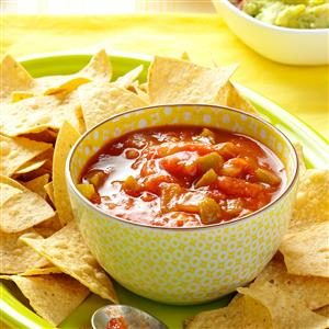 Easy freezer salsa recipe
