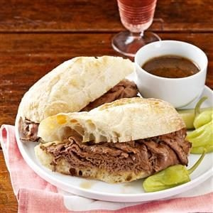French Dip Subs with Beer Dipping Sauce Recipe