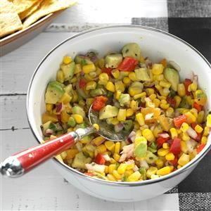 Fresh Corn & Avocado Dip Recipe