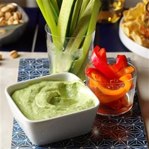 Fresh Herb Vegetable Dip Recipe