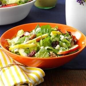 Fresh Pear & Romaine Salad Recipe