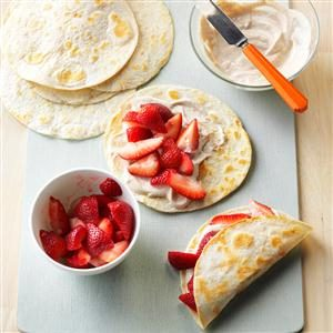 Fresh Strawberry Breakfast Tacos Recipe