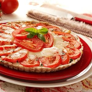 Fresh Tomato Basil Tart Recipe