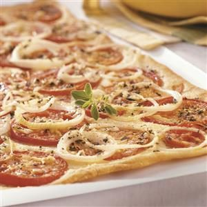 Fresh Tomato Flatbread Recipe