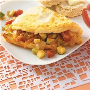Fresh Vegetable Omelet Recipe