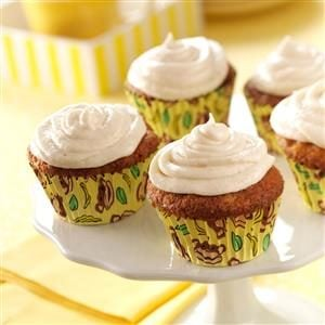 Frosted Banana Cupcakes Recipe