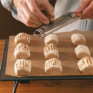 Frosted Nutmeg Log Cookies Recipe