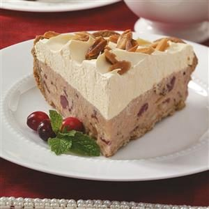 Frozen Cranberry Pie with Candied Almonds Recipe
