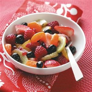 Fruit Salad with Raspberry Vinaigrette Recipe