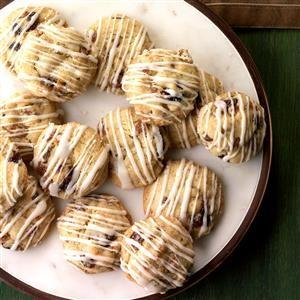 Fruitcake Cookies with Rum Glaze Recipe