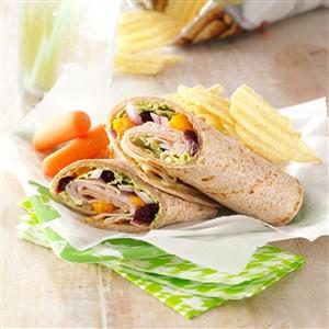 Fruited Turkey Wraps Recipe