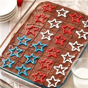 Menu #3 Dessert: Fudgy Patriotic Brownies
