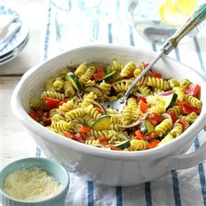 Garden Pesto Pasta Salad Recipe