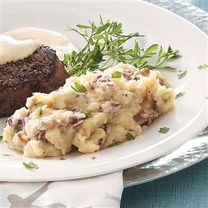 Garlic, Bacon & Stilton Mashed Potatoes Recipe