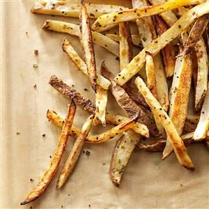 Garlic-Chive Baked Fries Recipe