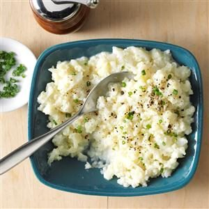 Garlic Mashed Cauliflower Recipe