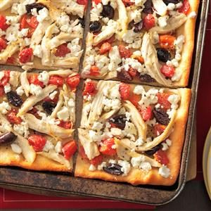 Garlicky Chicken Pizza Recipe