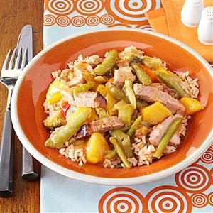 Ginger-Peach Pork Skillet Recipe
