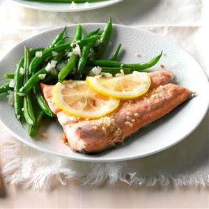 Ginger Salmon with Green Beans Recipe