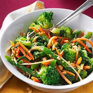 Ginger-Sesame Steamed Vegetable Salad Recipe