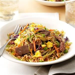 Ginger Steak Fried Rice