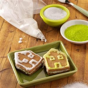 Gingerbread House Sandwich Cookies Recipe