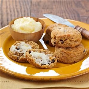 Gingerbread Scones with Lemon Butter