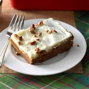 Gingerbread with Lime Cream Cheese Frosting Recipe