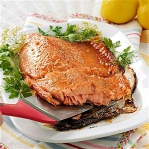 Glazed Asian-Style Salmon Fillet