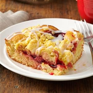 Glazed Cherry Coffee Cake Recipe