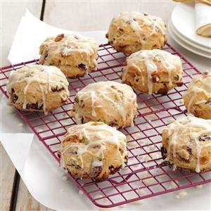 Glazed Cranberry Biscuits Recipe