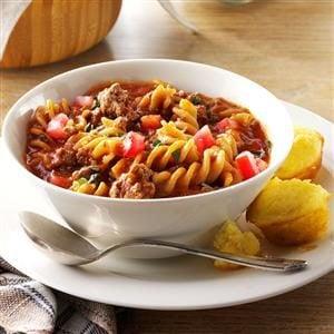 Gluten-Free Chili Beef Pasta