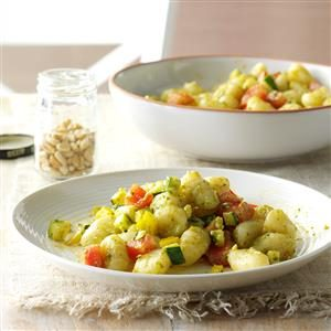 Gnocchi with Pesto Sauce Recipe