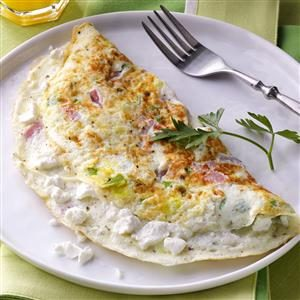 Goat Cheese & Ham Omelet Recipe