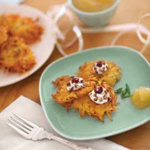 Goat Cheese & Cherry Latkes
