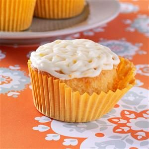 Golden Orange Cupcakes Recipe