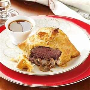 Gorgonzola Beef Wellingtons Recipe