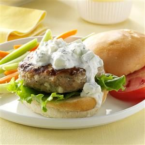 Greek-Style Chicken Burgers Recipe