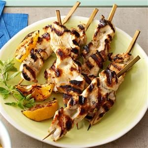 Greek-Style Chicken Skewers Recipe