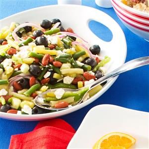 Greek Three-Bean Salad