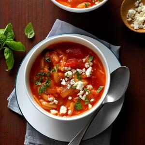 Greek Tomato Soup with Orzo Recipe