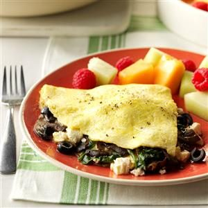 Greek Veggie Omelet Recipe