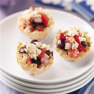 Greek Veggie Tartlets Recipe