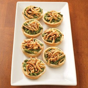Green Bean Casserole Quiche Bites