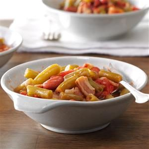 Green Beans with Bacon and Tomatoes Recipe