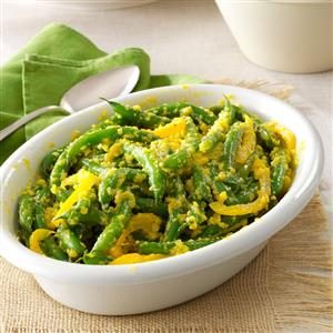 Green Beans with Yellow-Pepper Butter Recipe